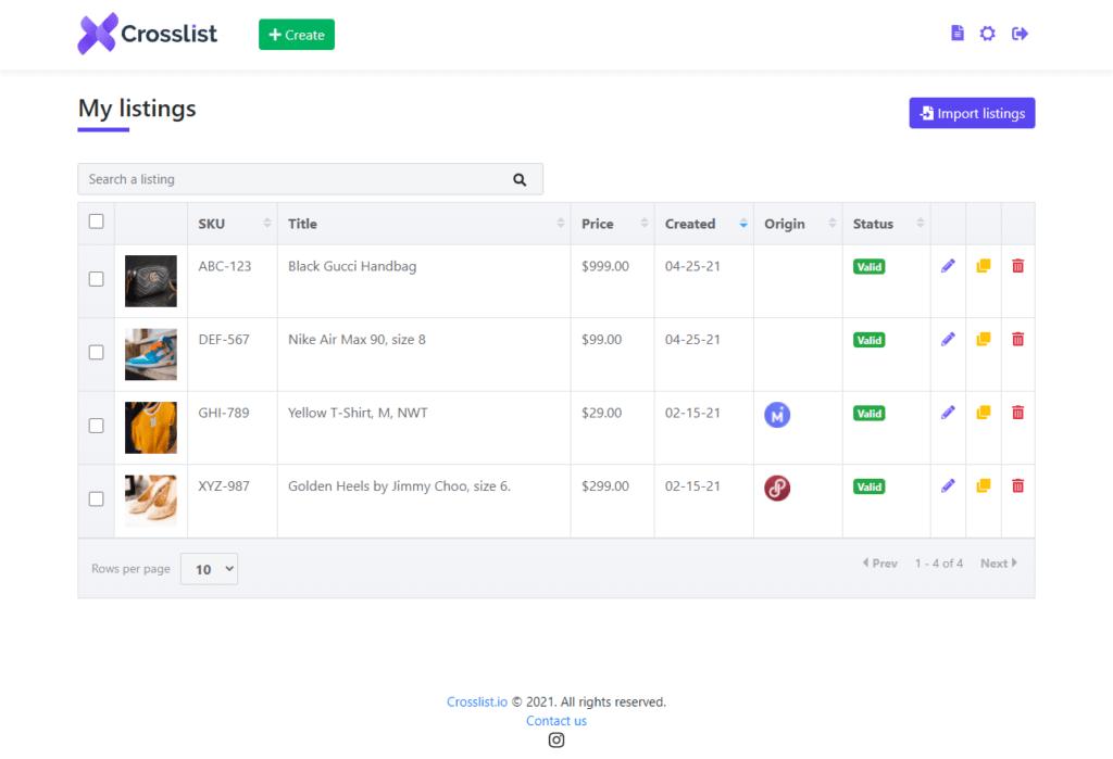 Crosslist Feature Import And Crosspost